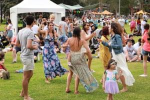 The crowd at New Beginnings festival, held in Tumbalong Park, Sydney, in November.