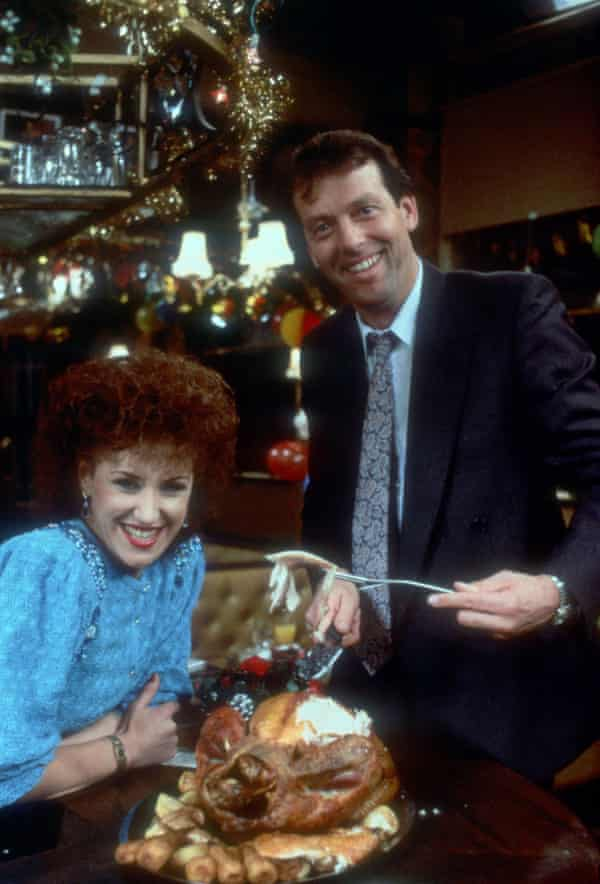 Leslie Grantham Anita Dobson in the Christmas Day episode of EastEnders in 1986 that was watched by 30 million viewers in the UK.