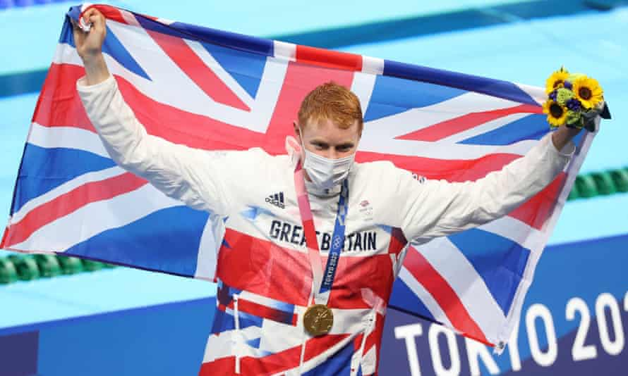 Swimmer Tom Dean who won gold in the men's 200m freestyle.