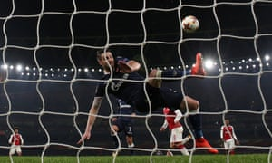 Red Star Belgrade's Damien Le Tallec clears off the line.