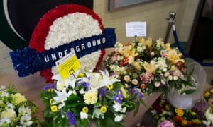 Flowers are laid in memory of the victims of the terrorist attack in London.