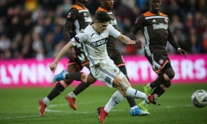 Dan James dribbled 80 yards from the edge of his own box to score Swansea's second, leaving three Swansea players in his wake.