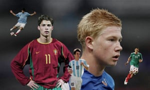 Lionel Messi, Javier Hernández, Luis Suárez, Kevin De Bruyne and Cristiano Ronaldo. Photographs by Getty Images and Reuters. Composite Jim Powell