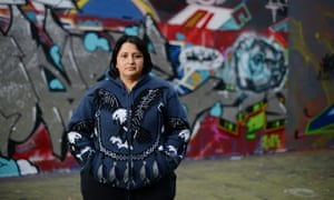 Katy Rojas, who lost her job at Interserve after the dispute over pay for cleaners. Photograph: Christian Sinibaldi for the Guardian