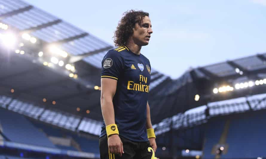David Luiz endured a disastrous cameo appearance against Manchester City that culminated in a red card.