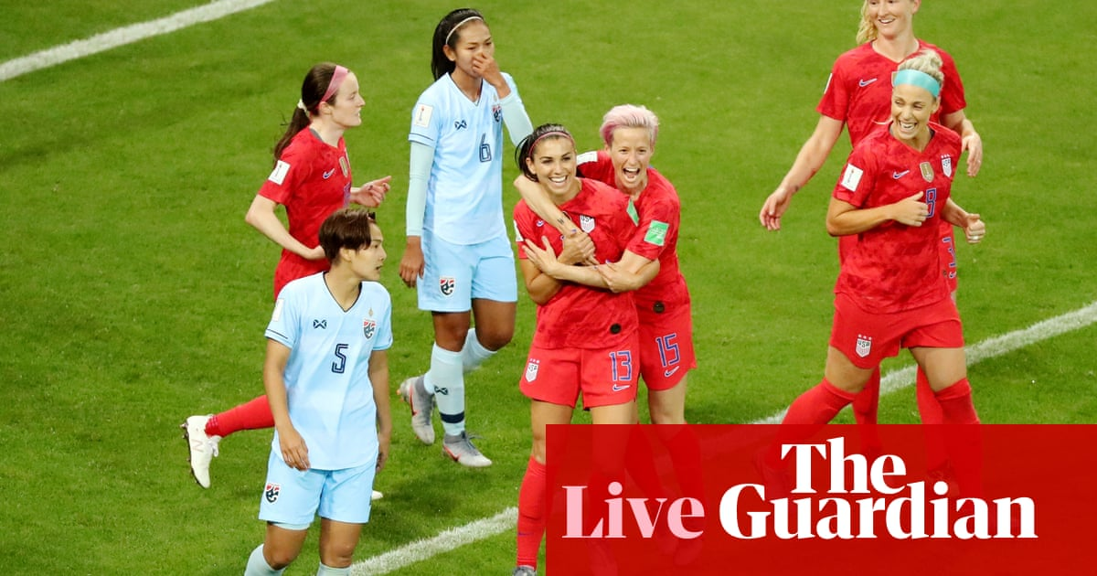 ee5b0bda9 USA 13-0 Thailand: Women's World Cup 2019 – as it happened ...
