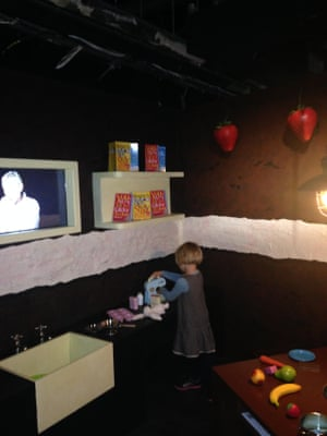 Perry at the Michael Rosen exhbition