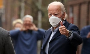 President-elect Joe Biden at the weekend. He will be formally elected by the US electoral college today.