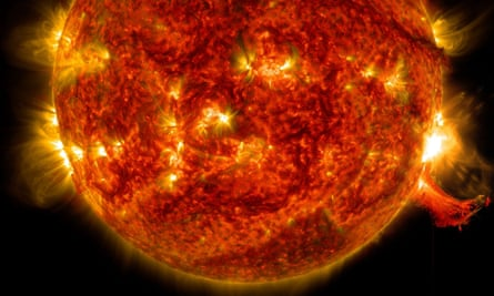 Nasa image of a solar flare in 2014