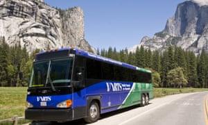 The Yosemite National Park YARTS bus.