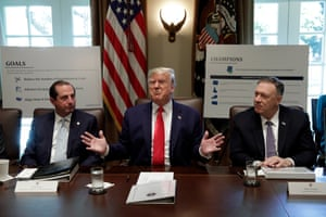 Washington DC, USUS President Donald J. Trump speaks during a Cabinet Meeting at the White House
