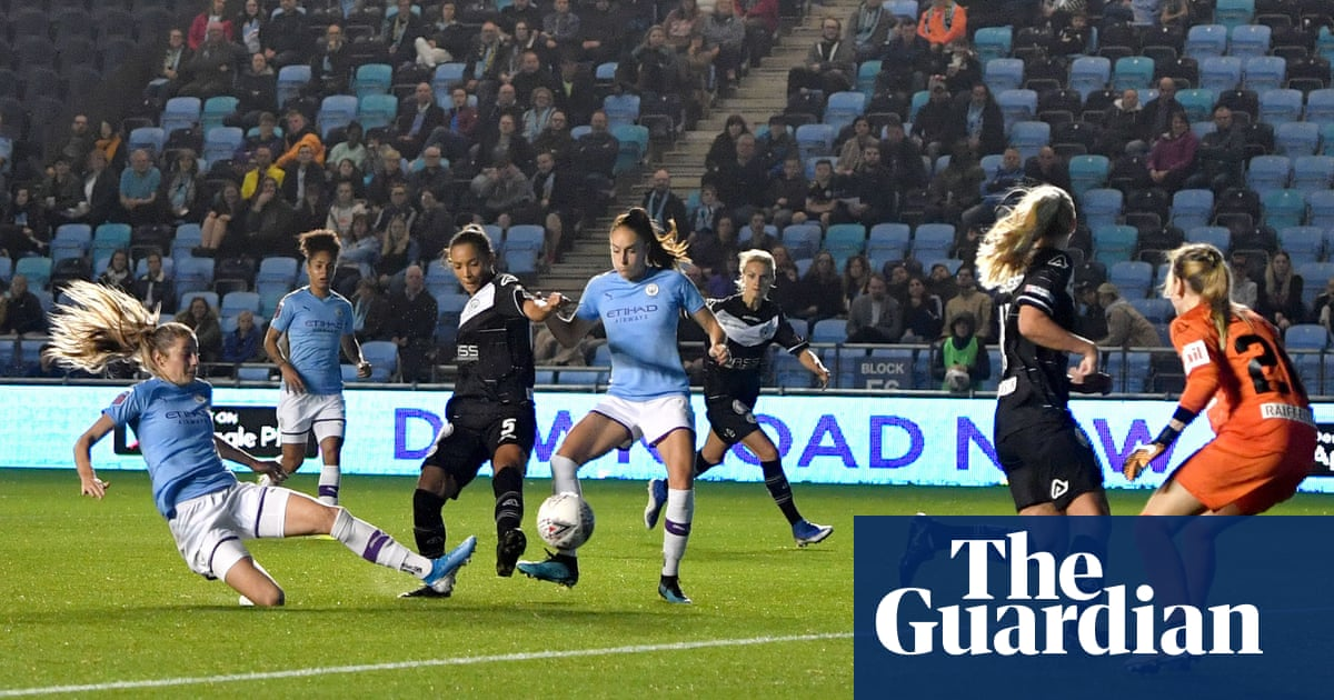 Janine Beckie's hat-trick steers Manchester City into Champions League last 16