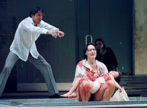 Jonathan Cake and Fiona Shaw in Medea.