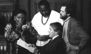 Diane Abbott, the newly elected Labour MP for Hackney North, at the opening of parliament in 1987, with fellow Labour MPs Bernie Grant (top), Jeremy Corbyn (right) and Tony Banks (bottom).