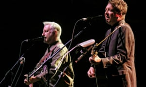 They've got a thing about trains: Billy Bragg and Joe Henry at the Sydney Opera House.