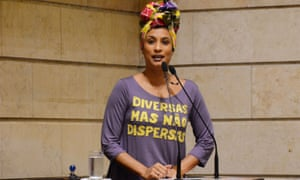 Marielle Franco, leading a session at the municipal chamber in Rio de Janeiro.