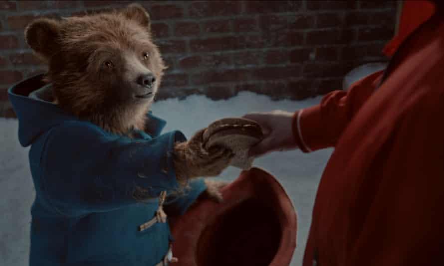 Paddington in the M&S Christmas advert.