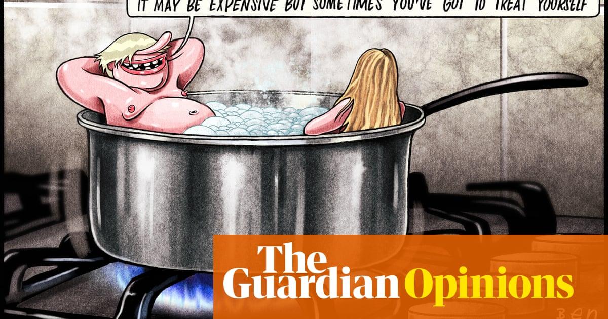 Ben Jennings on Boris Johnson taking a holiday during the gas crisis – cartoon
