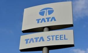 Tata steel sign