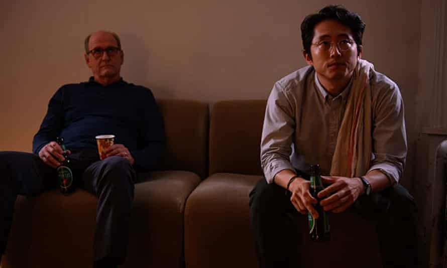 Richard Jenkins and Steven Yeun in The Humans