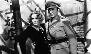 Marlene Dietrich and Clive Brook in Shanghai Express, 1932