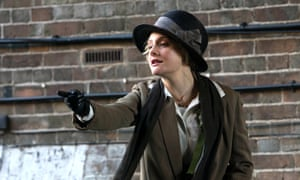 starring in film Suffragette - actor handing out leaflets.