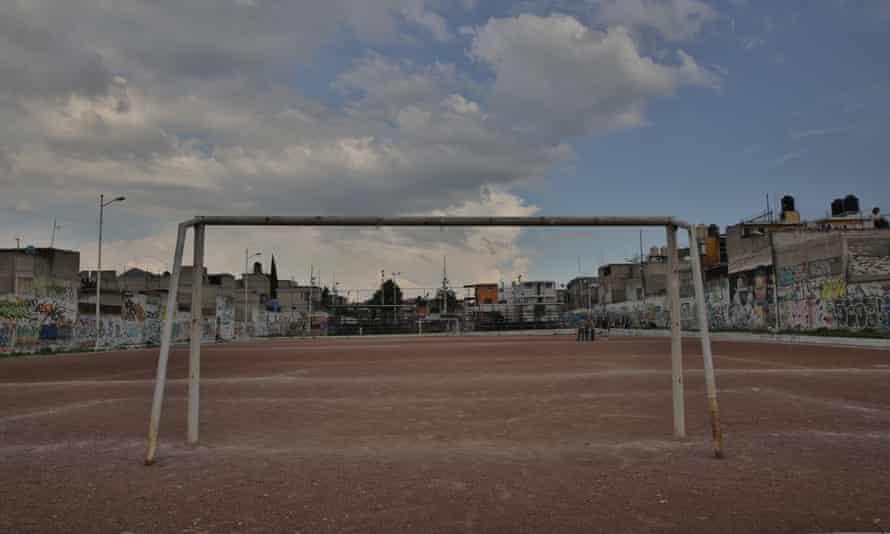 La cancha pro-tamaño del Deportivo, como se le ve ahora.