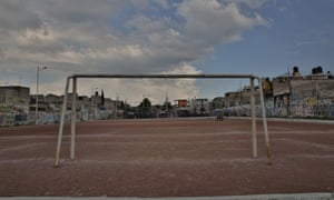 The Deportivo's professional-sized football pitch as it looks now.