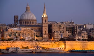 The fortifications of old Valletta.