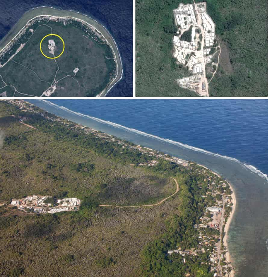 aerial shots of Nauru
