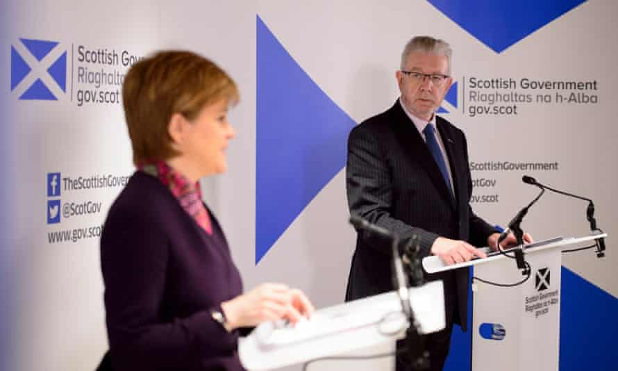Nicola Sturgeon and Mike Russell