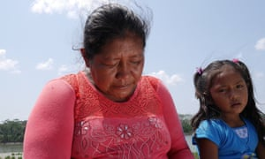 """Nelly Perez, 38, weeps when she think of her relatives living in the forest. """"They are my real family. They are my uncles and aunts, my grandparents, my cousins."""""""