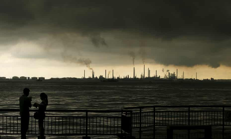 A Shell oil refinery in Singapore.