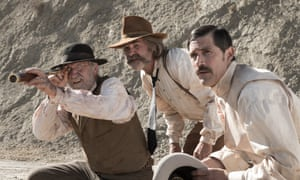Richard Jenkins, Kurt Russell and Matthew Fox in Bone Tomahawk