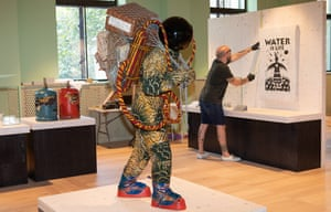 Making space … Yinka Shonibare's Refugee Astronaut at the Wellcome Foundation's Being Human exhibition exploring arts and disability rights.
