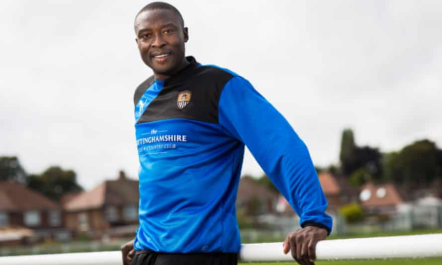 Shola Ameobi is enjoying life at Notts County, managed by his former Newcastle United team-mate Kevin Nolan.