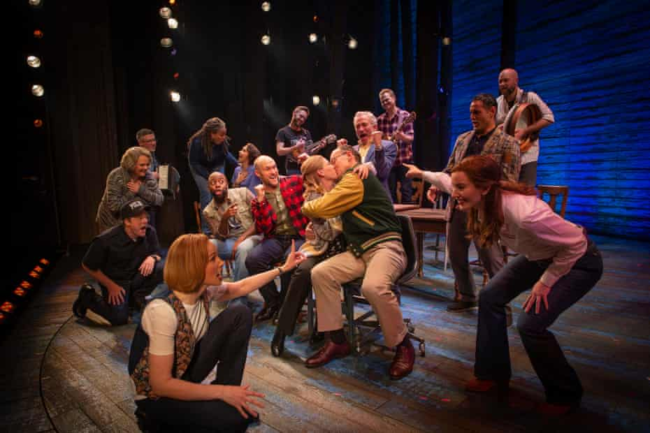The Australian cast of Come From Away in 2021.
