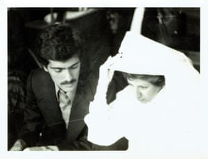 The only remaining photo of the wedding of Naser and Ella Dastyari