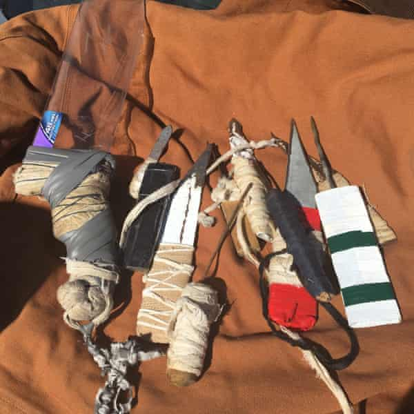 Curt Stidham's collection of shanks from Holman prison.