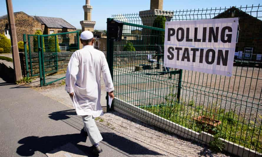 A voter in Batley on 1 July