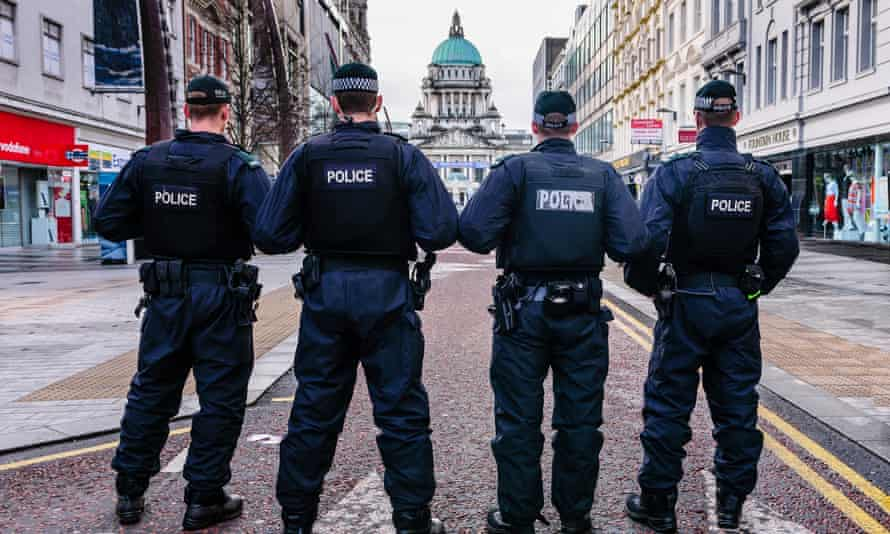PSNI officers on patrol in central Belfast.