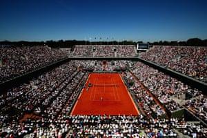 The scene at Roland Garros.
