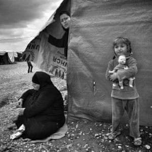 Grandma, mother and daughter from Shangal, Harsham Refugee Camp, Kurdistan Iraq, Erbil, 2015.