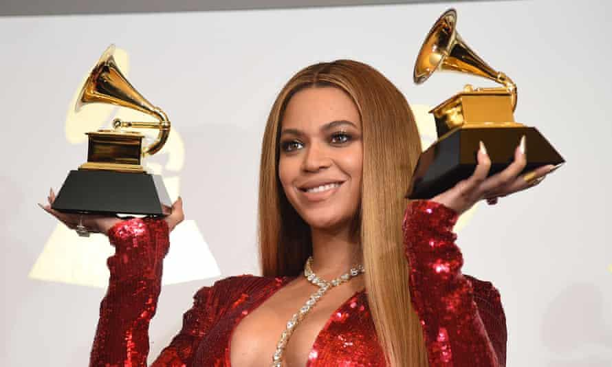Beyoncé at the 2017 Grammy awards.
