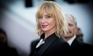 "Uma Thurman attends the ""Based On A True Story"" screening during the 70th annual Cannes Film Festival."