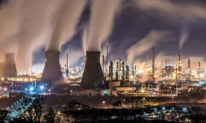 Grangemouth oil refinery, Scotland.