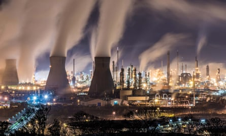 Grangemouth oil refinery, Scotland.