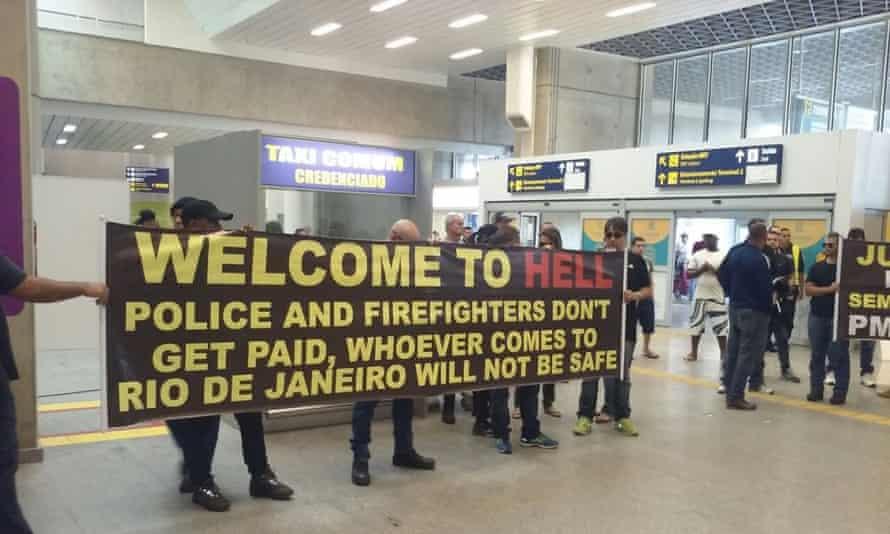 Rio Olympics protesters