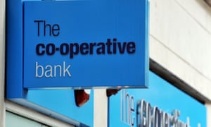 The blue signs of a Co-op Bank branch