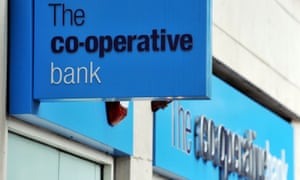 A Co-Operative Bank sign.